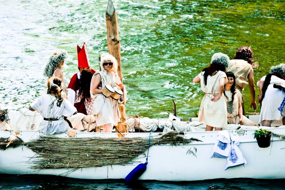 Galindowie na swej łodzi