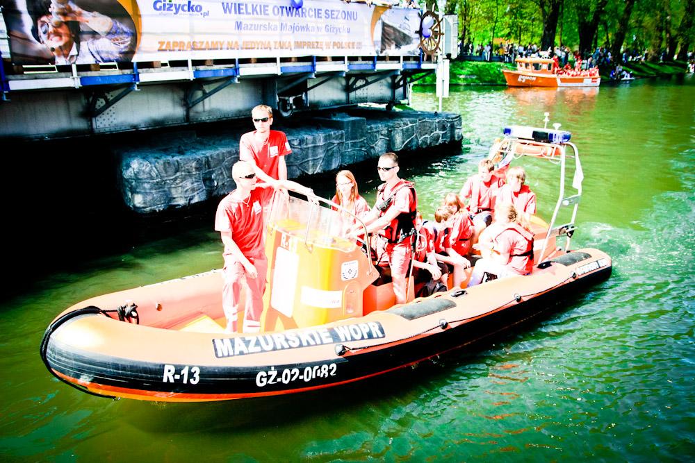 Mazurskie WOPR gotowe do sezonu Giżycko maj 2012