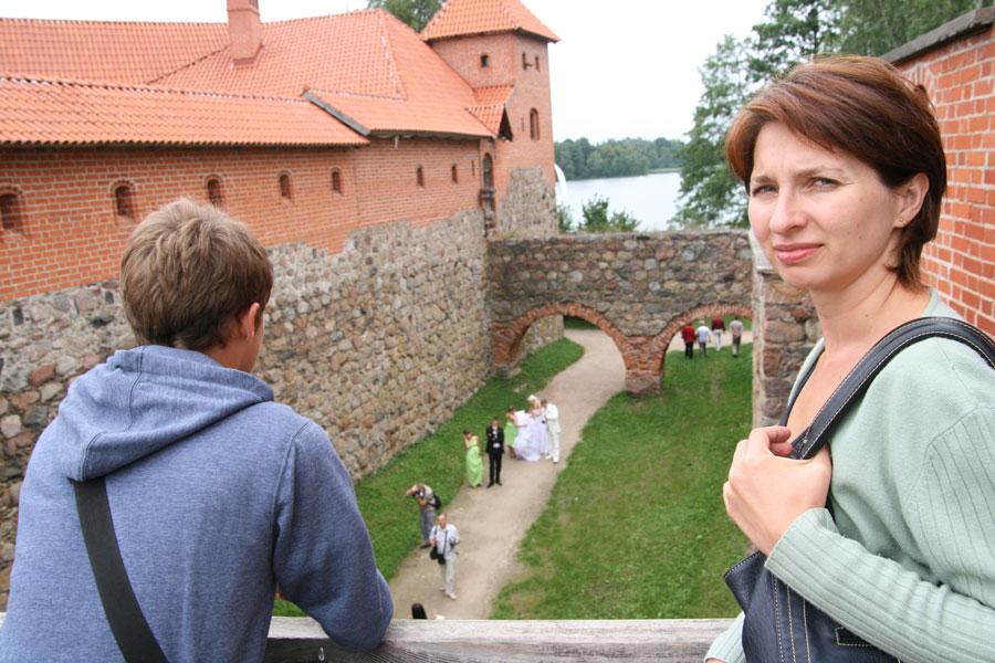 Troki--zamek_wycieczka na Litwę