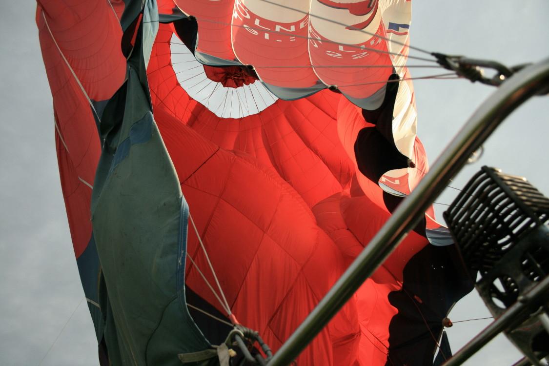 Czasza balonu po wylądowaniu