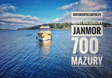 Jacht Janmor 700 bez patentu na Mazurach